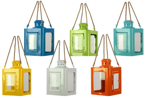Urban Trends UTC23300 Metal Lantern, Set of 6
