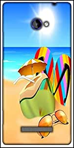 Snoogg Abstract Summer Background Designer Protective Back Case Cover For HTC Windows Phone 8S