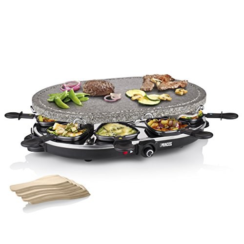 01.162720.01.001 Raclette 8 Oval Stone Grill Party