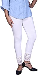 Unicraft Women's Cotton & Lycra Leggings (unicraft-033White-Net)