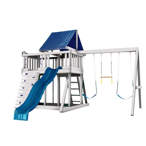 Congo Monkey Playsystem #1 With Swing Beam - White And Sand Low Maintenance Play Set front-903847