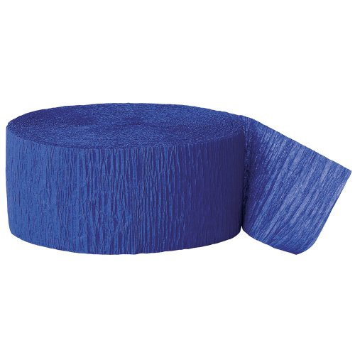 Party Streamer, 81-Feet, Royal Blue front-903258