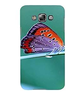 PrintVisa Butterfly Design 3D Hard Polycarbonate Designer Back Case Cover for Samsung Galaxy E7