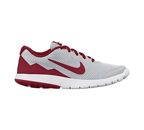 New Nike Boy's Flex Experience 4 Athletic Shoe Grey/Gym Red 4