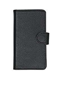 D.rD Artificial Leather Mobile Flip Cover With Card Holder For Nokia Lumia XL (Black)