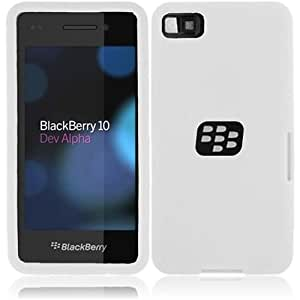 HR Wireless Blackberry Z10 Silicone Skin Cover - Retail Packaging - White