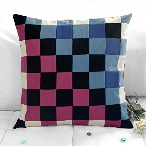 [Warm und kalt] handgemachte dekorative Kissen einzigartigen Gitterkissen 48cm -