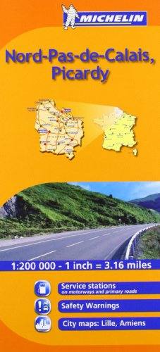 Nord : Flandres, Artois, Picardie (Maps/Regional (Michelin)) (English and French Edition)