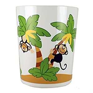 Elegant bath monkey town nature waste basket bathroom trash can - Elegant wastebasket ...
