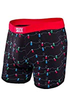 Saxx Mens Vibe Modern Fit Lifestyle Boxers Underwear Small All Lit Up