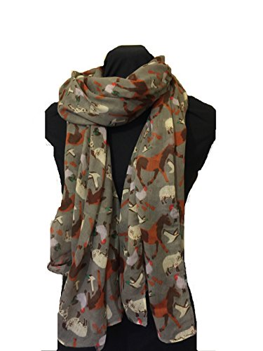 grey-farmyard-animals-horses-sheep-lambs-chickens-and-geese-scarf-wrap
