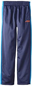 Fila Boys 8-20 Colorblock Fashion Track Pant, Blue, 10/12