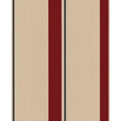 Barley Striped Wallpaper In Red Full Roll by wallpaper heaven