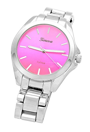 rosemarie-collections-pink-face-round-dial-silver-tone-metal-watch