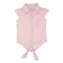 EIMOIE Girls Cotton Sleeveless Shirt (Pink)