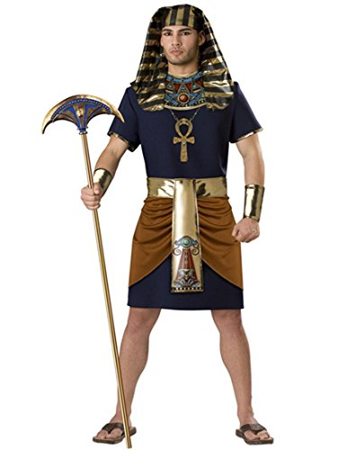 Nidicus Cosplay Men's Ancient Egyptian Pharaoh Costume Set of Hat and Clothes