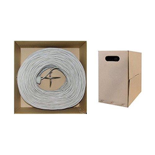 C&E 1000 feet CAT 6E 23AWG 4PR Solid STP Ethernet Cable White