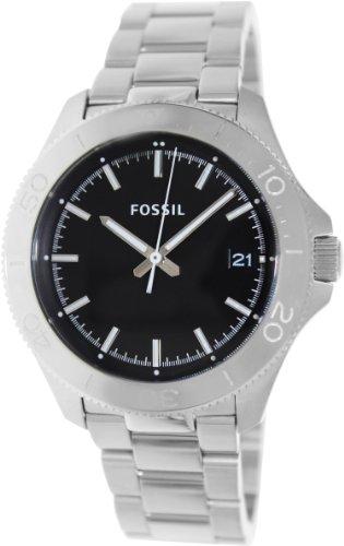 Fossil Retro Traveler Three Hand Stainless Steel Watch Am4441