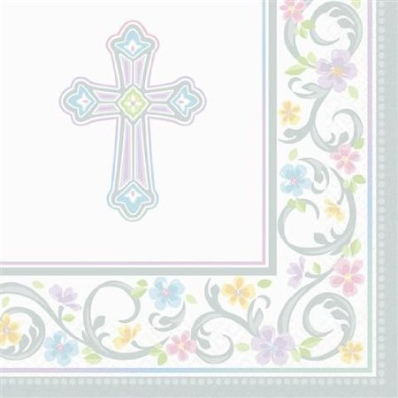 Blessed Day Religious Party Supplies Beverage Napkins