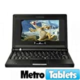 Mini Laptop Computer - 7 inch TFT Screen w/ Windows CE Operating System (Glossy Black Color)