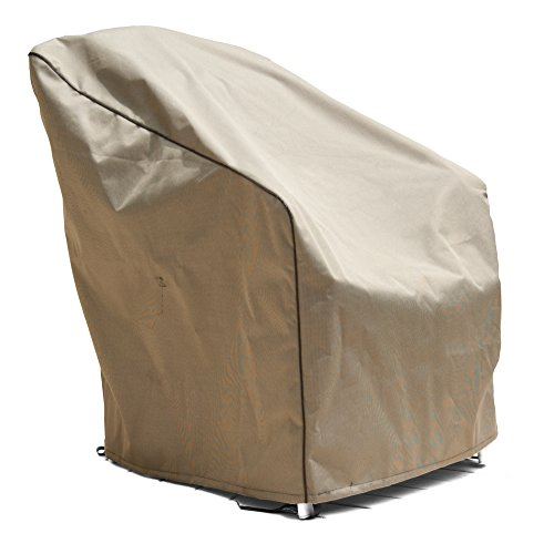 EmpirePatio P1W04PM1 Tan Tweed Extra Large Wicker Chair Cover image