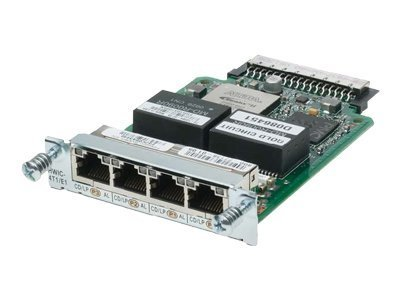Cisco Clear Channel T1/E1 High Speed Wan Interface Card - Expansion Module - 4 Ports -