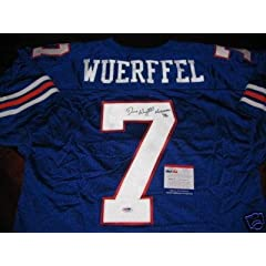 Danny Wuerffel Autographed Jersey - Psa dna - Autographed College Jerseys