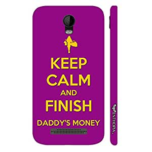 Micromax Bolt Q335 FINISH DADDY'S MONEY designer mobile hard shell case by Enthopia