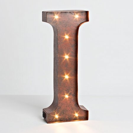 Gerson Compnay 92669I Wall Decor Lighted Letter - I