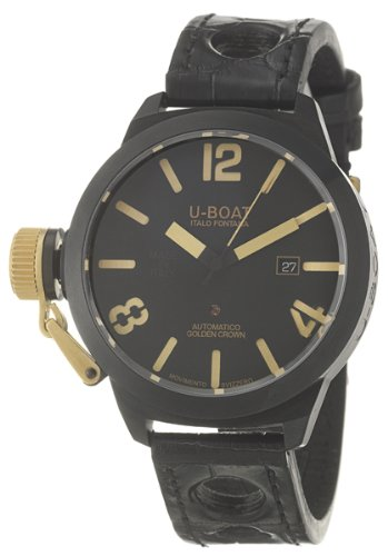 U-Boat 18K Gold Classico Golden Crown Men's Automatic Watch 45-AB-18K-Y