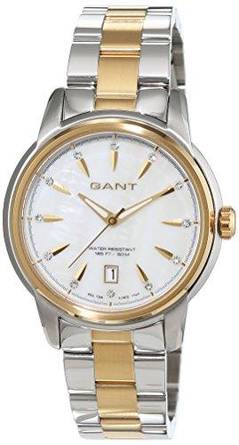 GANT TIME BLOOMFIELD W70423 - Reloj para mujeres, correa de acero inoxidable chapado multicolor