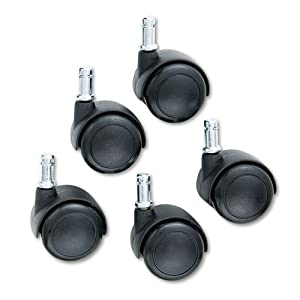 Safco : TaskMaster Economy Workbench Chair Hard Floor Casters, Black, Five per Set -:- Sold as 2 Packs of - 5 - / - Total of 10 Each