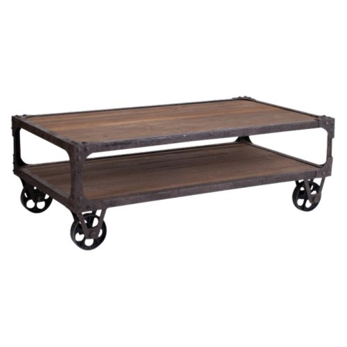 Buy Low Price Rustic Industrial Coffee Table (RICT