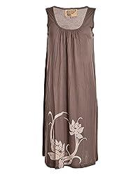 Beautiful Clothes Women's Regular Fit Dress(BCS 09_S,Beige,S )