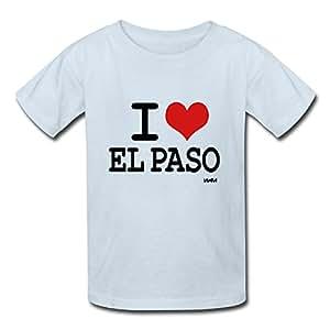 Amazon.com : I Love El Paso By Wam Kids Cotton Custom T Shirts X-large