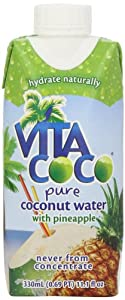 Vita Coco Coconut Water, Pineapple, 11.1 Ounce (Pack of 12)