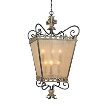 Amazon.com: Jeremiah Lighting 10838 Fleur de Lis 6 Light