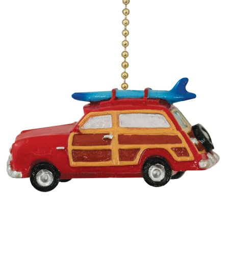 Clementine Design Surf Woody Car Ceiling Fan Pull Home Decor Chain Light