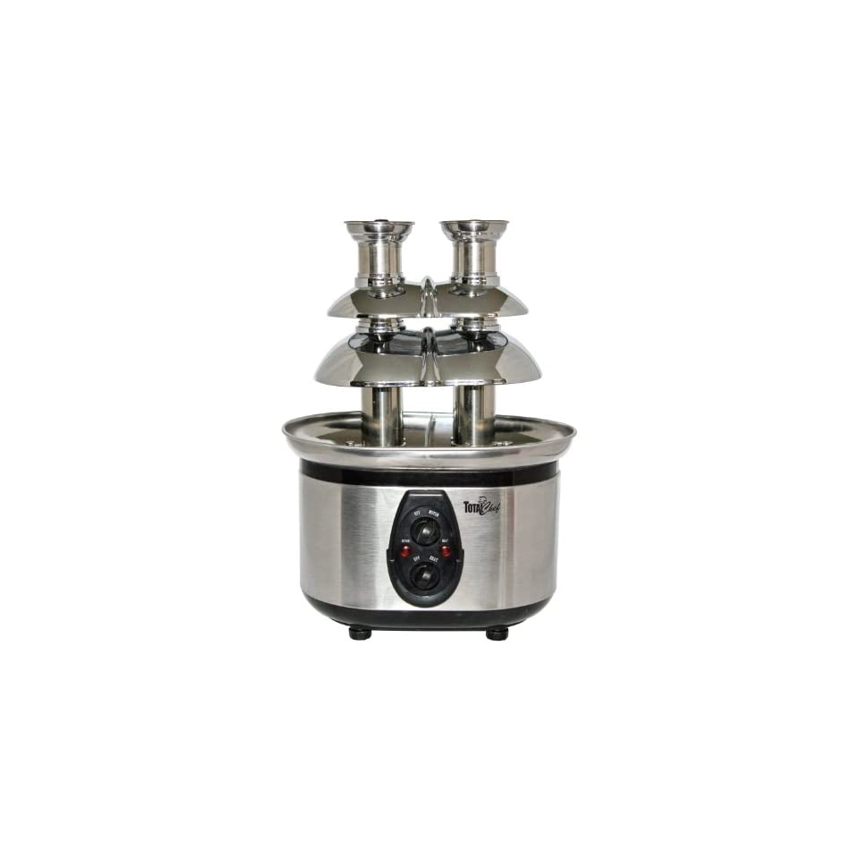 Total Chef WTF 43 Stainless Steel Double Tower Chocolate Fountain