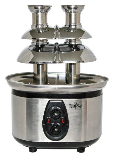 Best Review Of Total Chef WTF-43 Stainless-Steel Double-Tower Chocolate Fountain