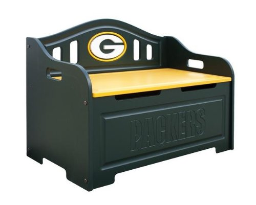 Green Bay Packers Kids Furniture Storage Toy Bench Ekifdaru