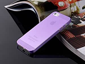 SBM Retail Ultra Thin TPU Semi-Hard Transparent Back Cover Case For Apple iPhone 5S (Purple)