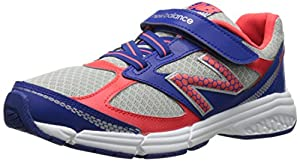 New Balance KV514 Youth Hook and Loop Running Shoe (Little Kid/Big Kid), Blue/Orange, 3.5 M US Big Kid