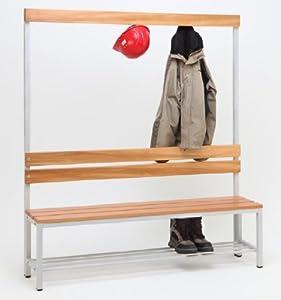 Sitzbank Herkules 100, mit Garderobenrückwand und Schuhauflage  BaumarktKundenbewertung und Beschreibung