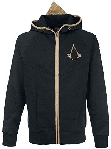 Assassin's Creed Logo Felpa jogging nero/oro, Nero/Oro, Small