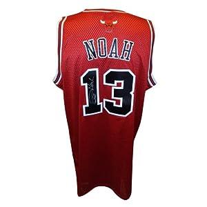 Joakim Noah Autographed Chicago Bulls (Red #13) Adidas Swingman Jersey by PalmBeachAutographs.com