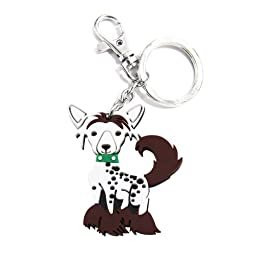 Love Your Breed Acrylic Keychain, Chinese Crested
