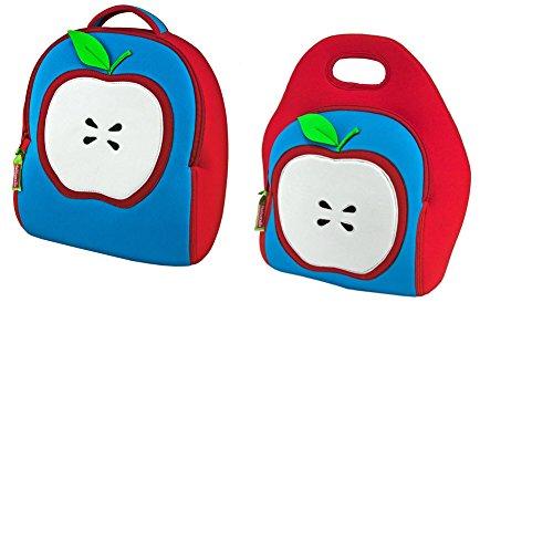 Dabbawalla Bags Apple of My Eye Kids Preschool Toddler Backpack and Lunch  Bag Set c32d71fd7e845