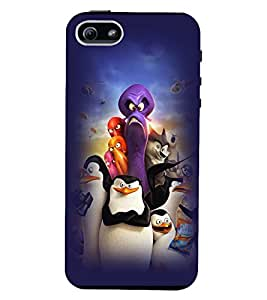 Printvisa Premium Back Cover Animated Monsters And Penguins Design For Apple iPhone 4::Apple iPhone 4S
