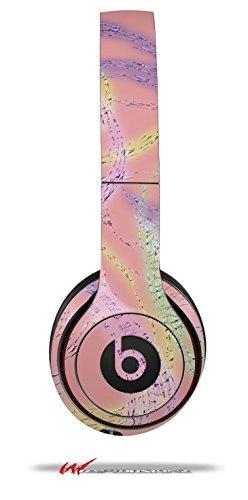 Neon Swoosh On Pink - Decal Style Skin Fits Genuine Beats Solo 2 Headphones (Headphones Not Included)